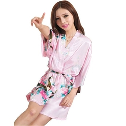 Fung  - Peacock Short Style Dressing Gown Robe