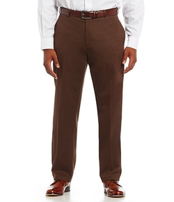 Dillard´s Exclusive - Cotton Flat-Front Pants