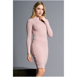 Ana & Elsa - Solid Ribbed Knit Bodycon Dress