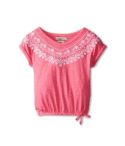 Lucky Brand Kids  - Embroidered V-Neck Top