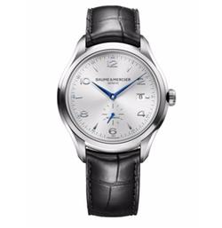Baume & Mercier  - Clifton Stainless Steel & Alligator Strap Watch