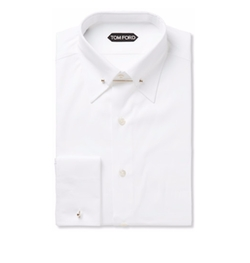 Tom Ford - Double-Cuff Cotton-Poplin Shirt