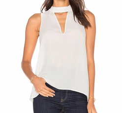 Three Eighty Two - Ariana Cutout Turtleneck Top