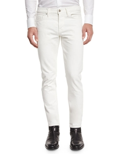 Tom Ford  - Slim Fit White Selvedge Denim Jeans