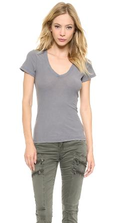 James Perse  - Reverse Binding Slub Tee