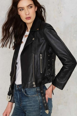 Nasty Gal - West Up Leather Moto Jacket