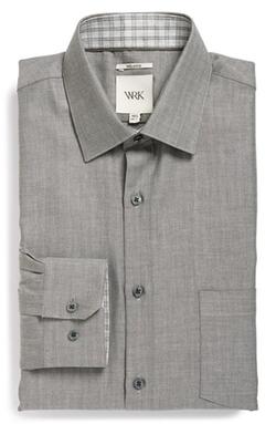 W.R.K - Extra Trim Fit Herringbone Dress Shirt
