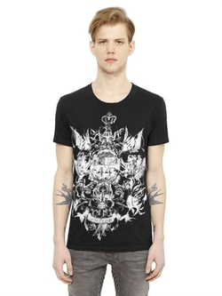 Balmain - Lions Printed Cotton T-Shirt