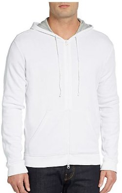 Vince -  Double-Layer Zip-Front Hoodie