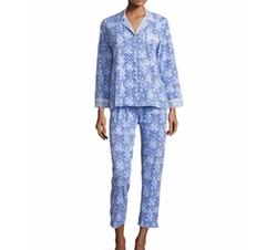 Oscar de la Renta - Tile Printed Jersey Pajama Set