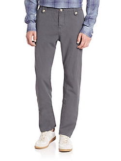 Eidos - Regular-Fit Cotton Trousers