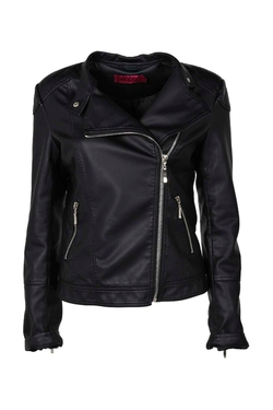 Boohoo - Lina Quilted Leather Jacket