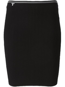 T By Alexander Wang - Ribbed Fitted Skirt