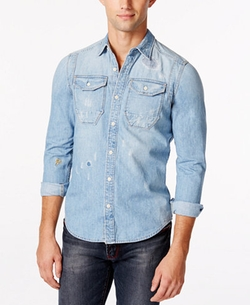 G Star - Wolker Long-Sleeve Denim Shirt