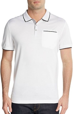 Calvin Klein  - Contrast-Trim Cotton Polo Shirt