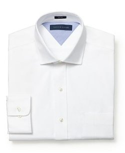 Tommy Hilfiger  - Slim-Fit Textured Solid Dress Shirt