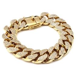 CSG Fashion Necklace - Golden Miami Cuban Curb Bracelet