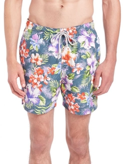 Saks Fifth Avenue Collection  - Floral Printed Swim Shorts