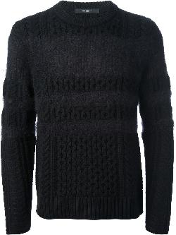 GIVENCHY - cable knit sweater