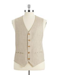 PERRY ELLIS  - Textured Vest