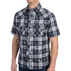 Dickies - Western Plaid Shirt - Short Sleeve, Snap Front (For Men)