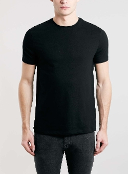 Top Man - Black Slim Crew T-Shirt