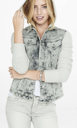 Express - Hooded Denim Jacket