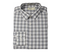 Haggar - Gingham Poplin Long-Sleeve Shirt