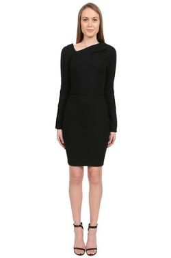 Obakki  - Wool Jersey Dress in Black