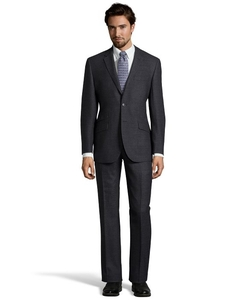 English Laundry  - Speckled Wool Notch Lapel Two-Button Suit