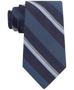 Calvin Klein  - Midnight Stripe Slim Tie