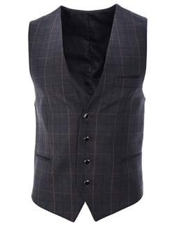 Flatseven - Checks Pattern Casual Vest