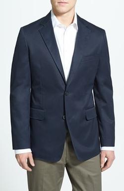 Nordstrom  - Regular Fit Travel Cotton Blazer