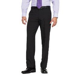Axist  - Straight-Fit Herringbone No-Iron Flat-Front Dress Pants