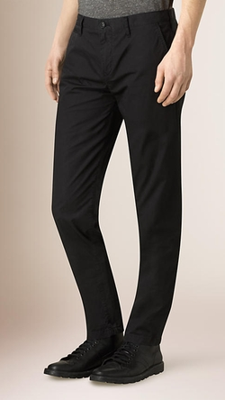 Burberry - Slim Fit Cotton Chino Pants