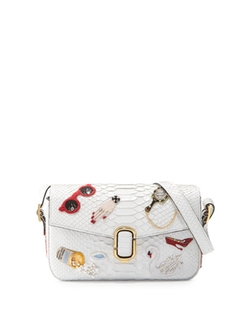 Marc Jacobs - J Marc Embroidered Python Shoulder Bag
