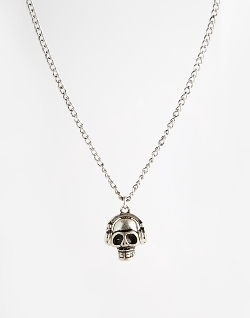 Icon Brand  - Skull Headphone Necklace