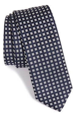 Boss - Square Check Silk Tie