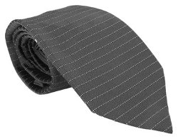 Valentino - Grey Woven Stripe Tie