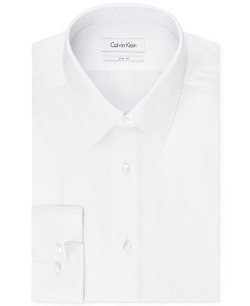 Calvin Klein  - Slim-Fit Twill Solid Dress Shirt