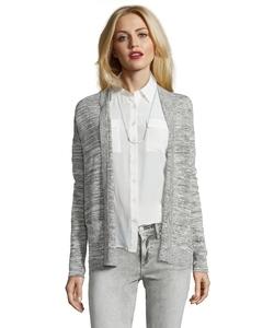 Wyatt - Linen Blend Marled Knit Open Front Cardigan