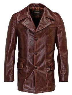 Schott NYC - Lightweight Cowhide Fitted Retro Carcoat 645