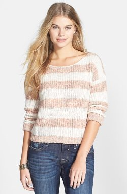 Love By Design - Stripe Ribbed Pullover