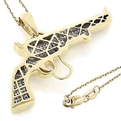 ItsHot - Revolver Pistol Pendant Necklace