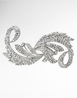 Nina - Taylor Crystal Embellished Swirl Brooch