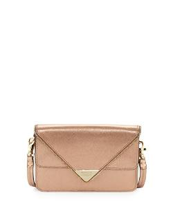 Rebecca Minkoff	 - Sammy Zip Trim Envelope Crossbody Bag, Rose Gold