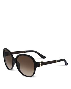 Salvatore Ferragamo - Lea Oversized Round Sunglasses