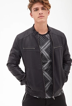 Forever 21 - Collarless Moto Jacket