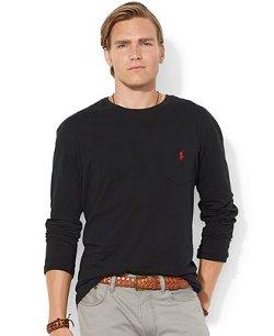 Polo Ralph Lauren  - Classic-Fit Long-Sleeved Crew-Neck T-Shirt