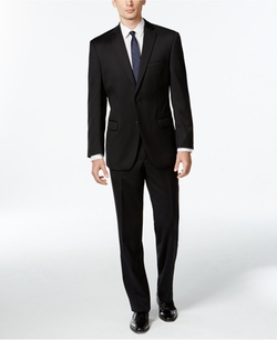 Calvin Klein - Black Solid Slim-Fit Suit